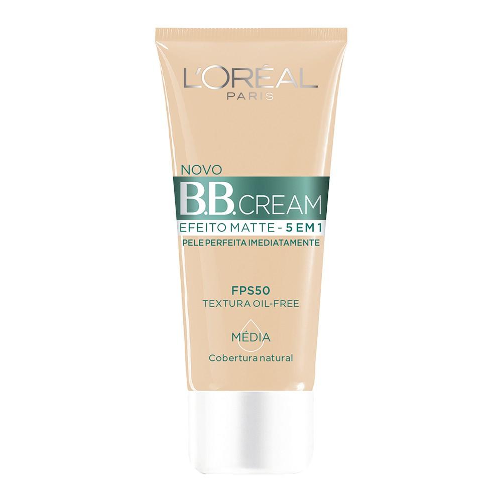 Base B.B Cream Loréal Líquido Média Efeito Matte 30 Ml  - Flor de Alecrim - Cosméticos