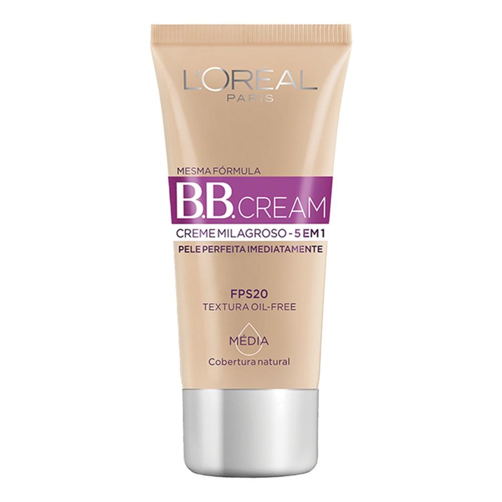 Base B.B Cream Loreal Liquida Média FPS 20 30 Ml  - Flor de Alecrim - Cosméticos
