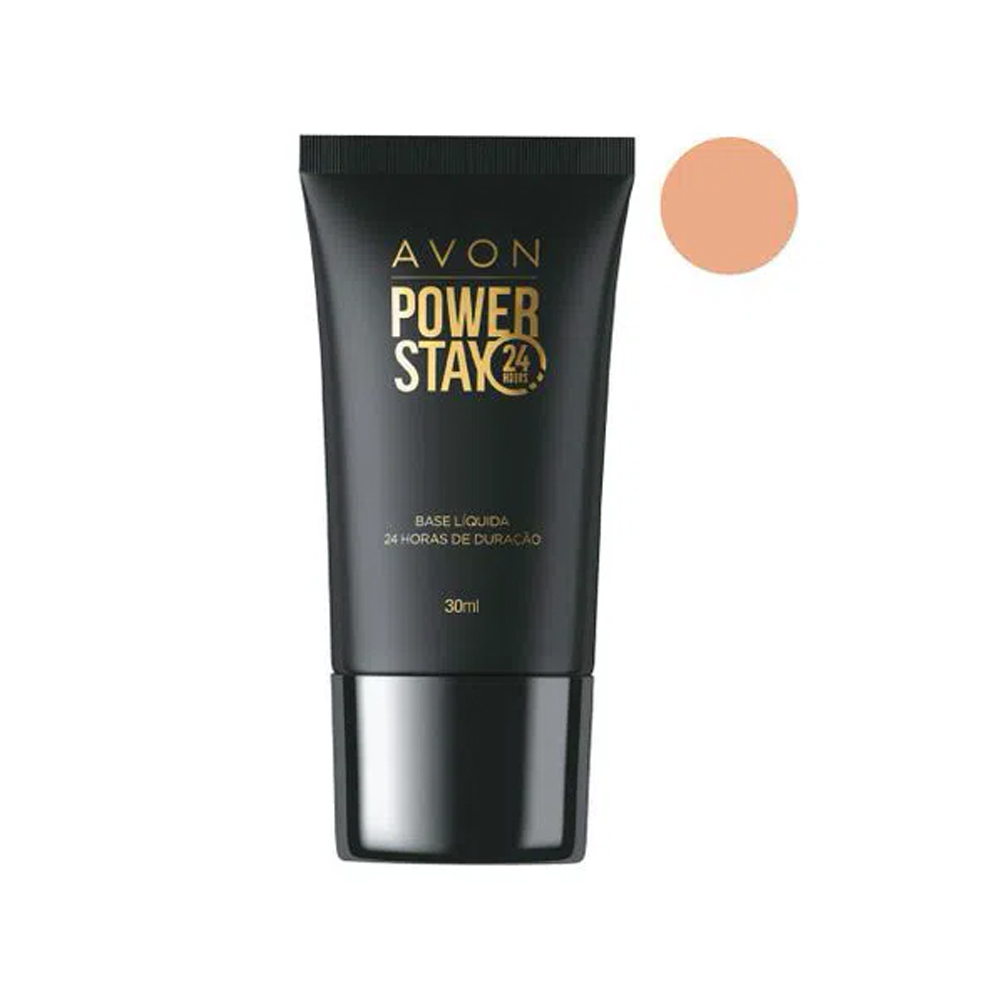 Base Líquida Avon Power Stay 110 F 30 Ml  - Flor de Alecrim - Cosméticos