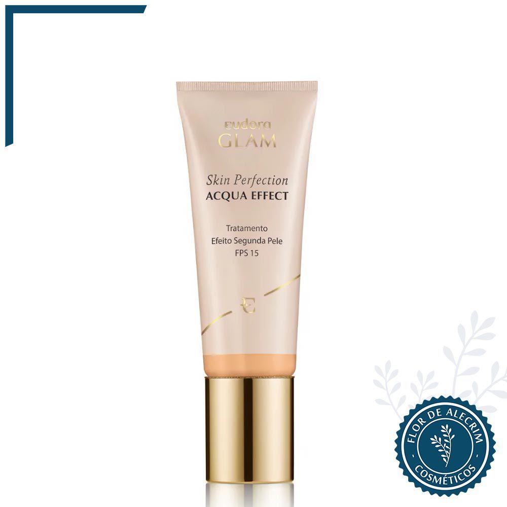 Base Líquida Skin Perfection Acqua Effect Bege 1 - 30 ml   Eudora  - Flor de Alecrim - Cosméticos