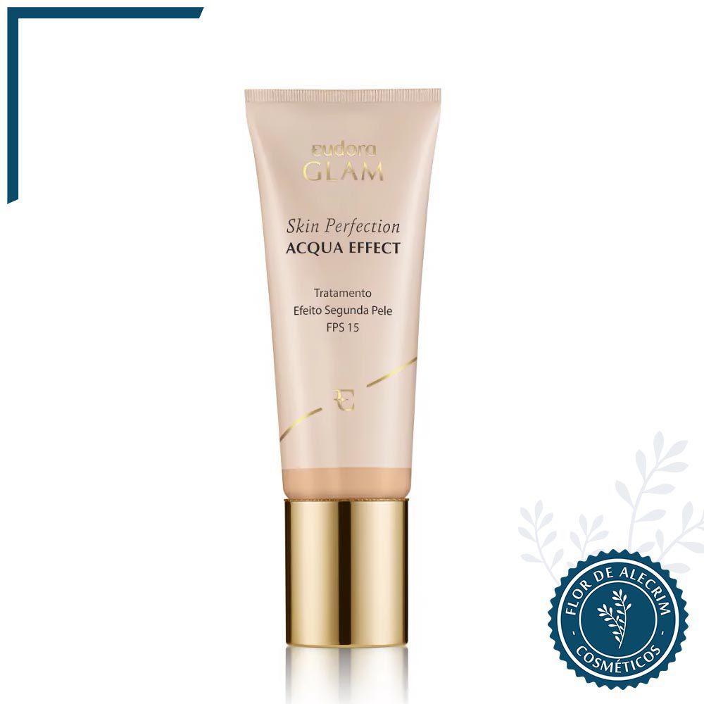 Base Líquida Skin Perfection Acqua Effect Bege Claro 1 - 30 ml | Eudora  - Flor de Alecrim - Cosméticos