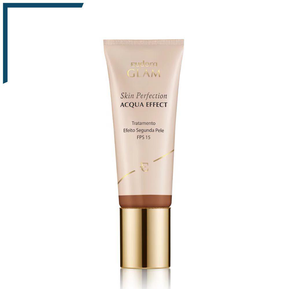 Base Líquida Skin Perfection Acqua Effect Bege Escuro 2 - 30 ml | Eudora  - Flor de Alecrim - Cosméticos