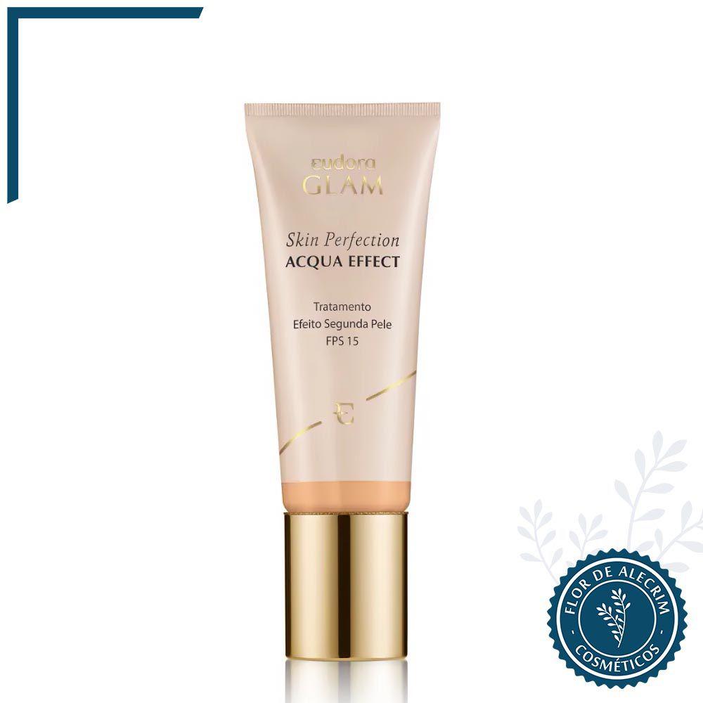 Base Líquida Skin Perfection Acqua Effect Bege Médio 1 - 30 ml | Eudora  - Flor de Alecrim - Cosméticos