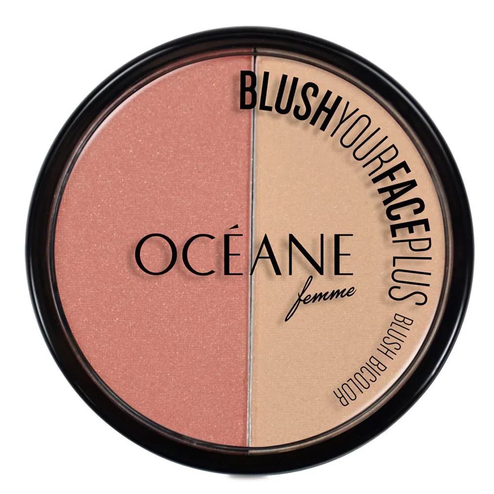 Blush Duo Your Face Plus Coral & Peach 9,3 g   - Flor de Alecrim - Cosméticos