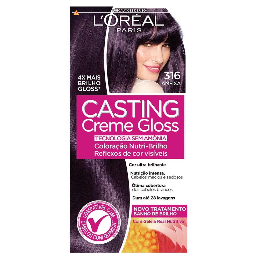 Coloração Creme 316 Ameixa Casting Gloss  - Flor de Alecrim - Cosméticos