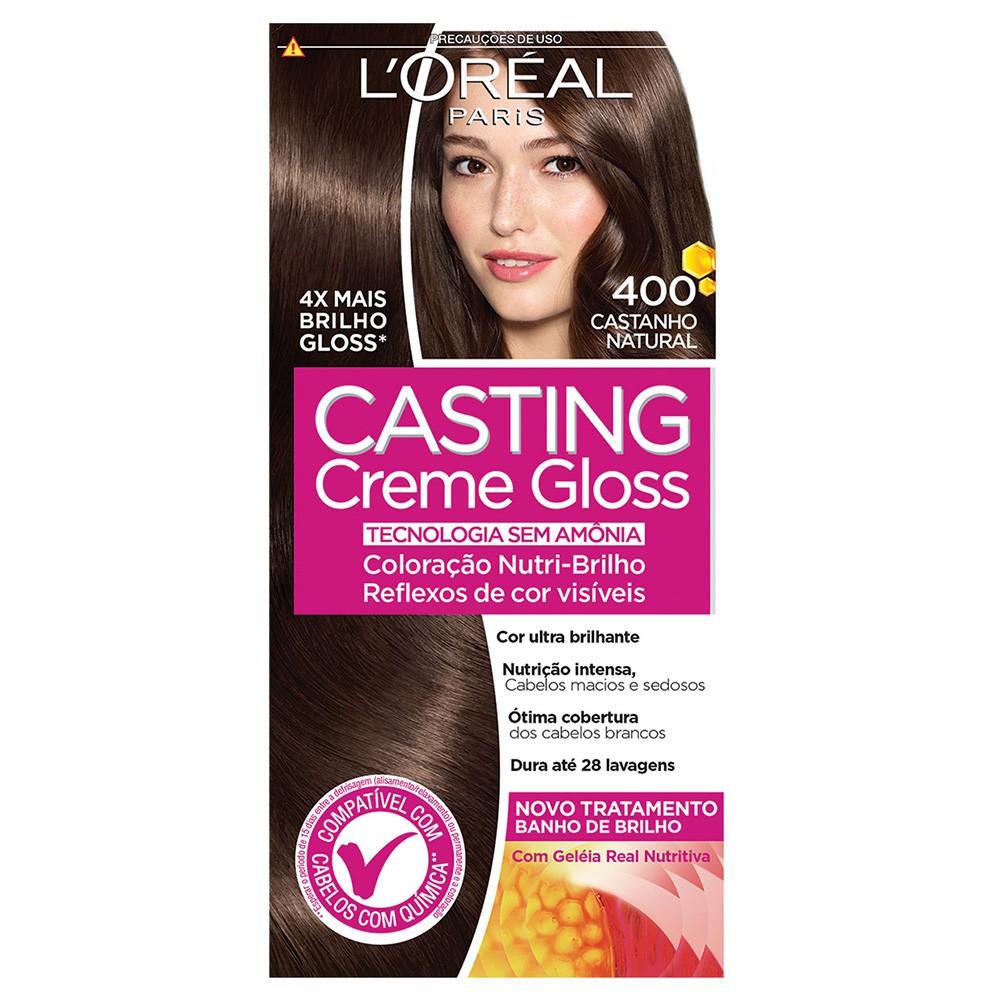 Coloração Creme 400 Castanho Natural Casting Gloss | L