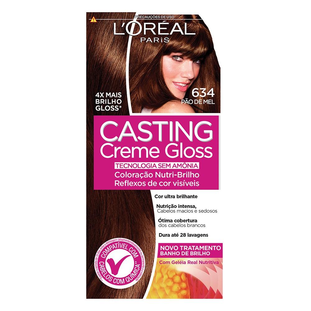 Coloração Creme 634 Pão de Mel Casting Gloss | L