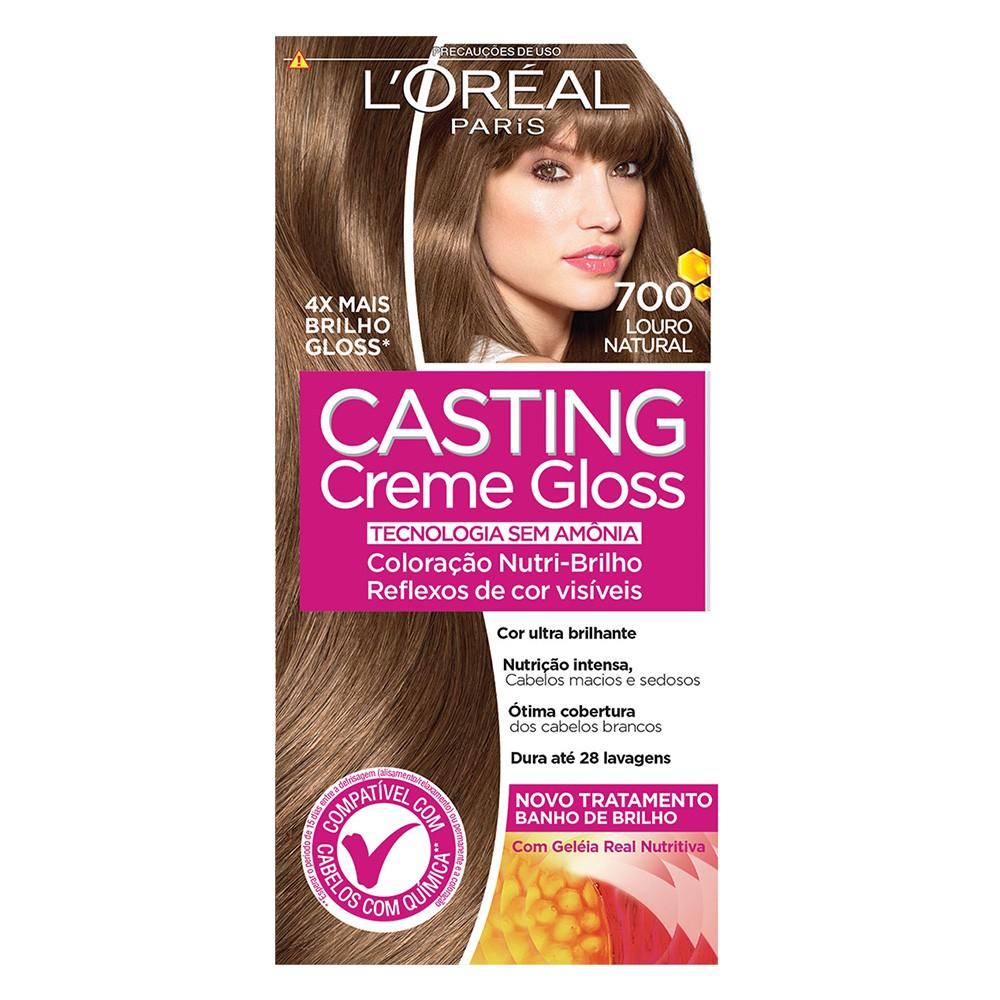 Coloração Creme 700 Louro Natural Casting Gloss  - Flor de Alecrim - Cosméticos