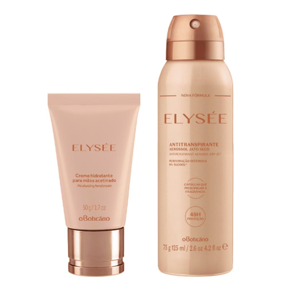 Combo Elysée: Creme Hidratante para Mãos + Desodorante Antitranspirante  - Flor de Alecrim - Cosméticos