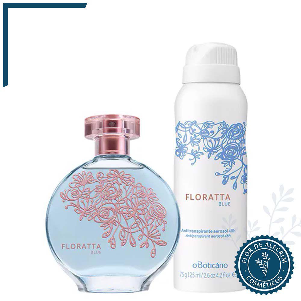 Combo Floratta Blue: Deo Colônia + Antitranspirante Aerossol | O Boticário  - Flor de Alecrim - Cosméticos