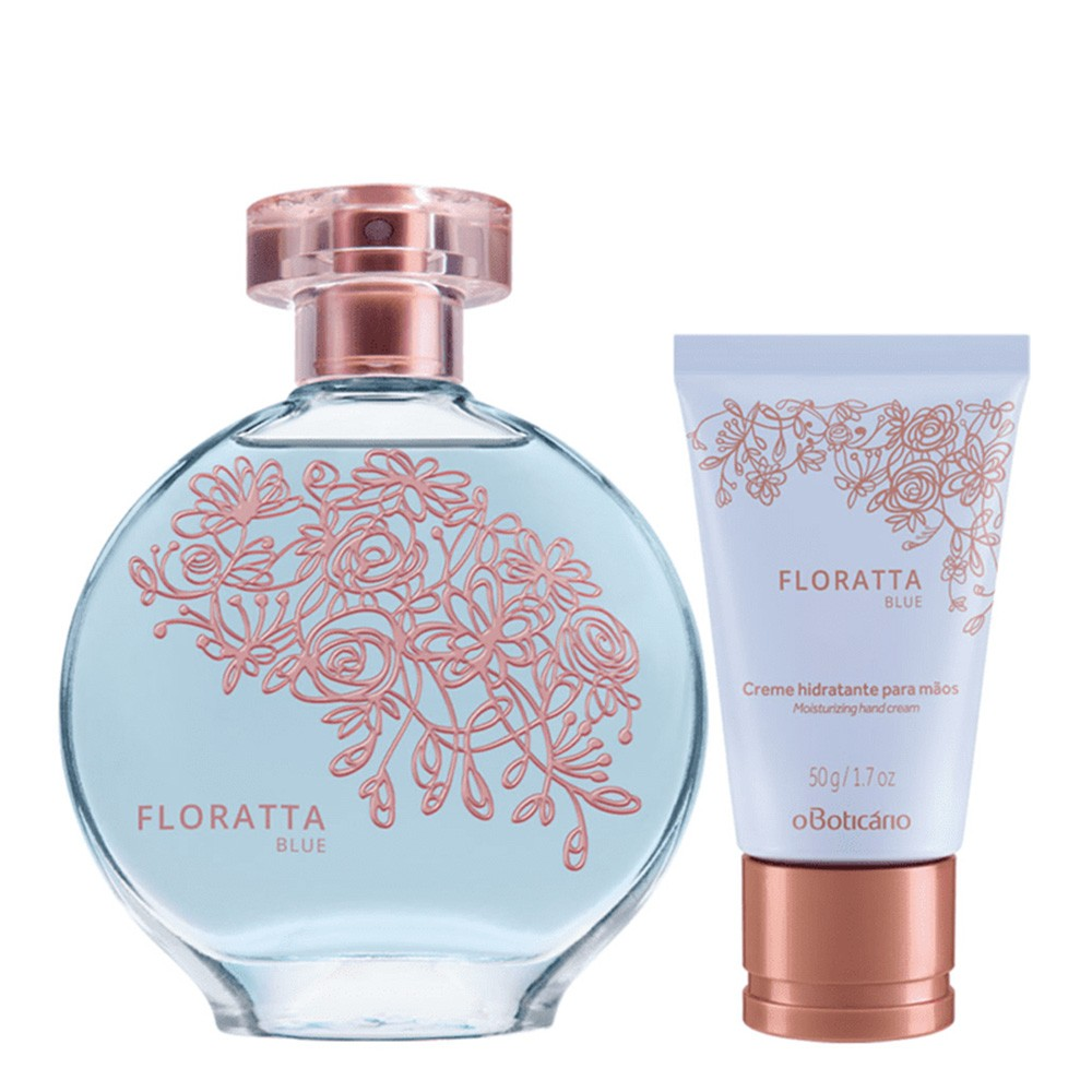 Combo Floratta Blue: Desodorante Colônia + Creme Hidratante de Mãos  - Flor de Alecrim - Cosméticos
