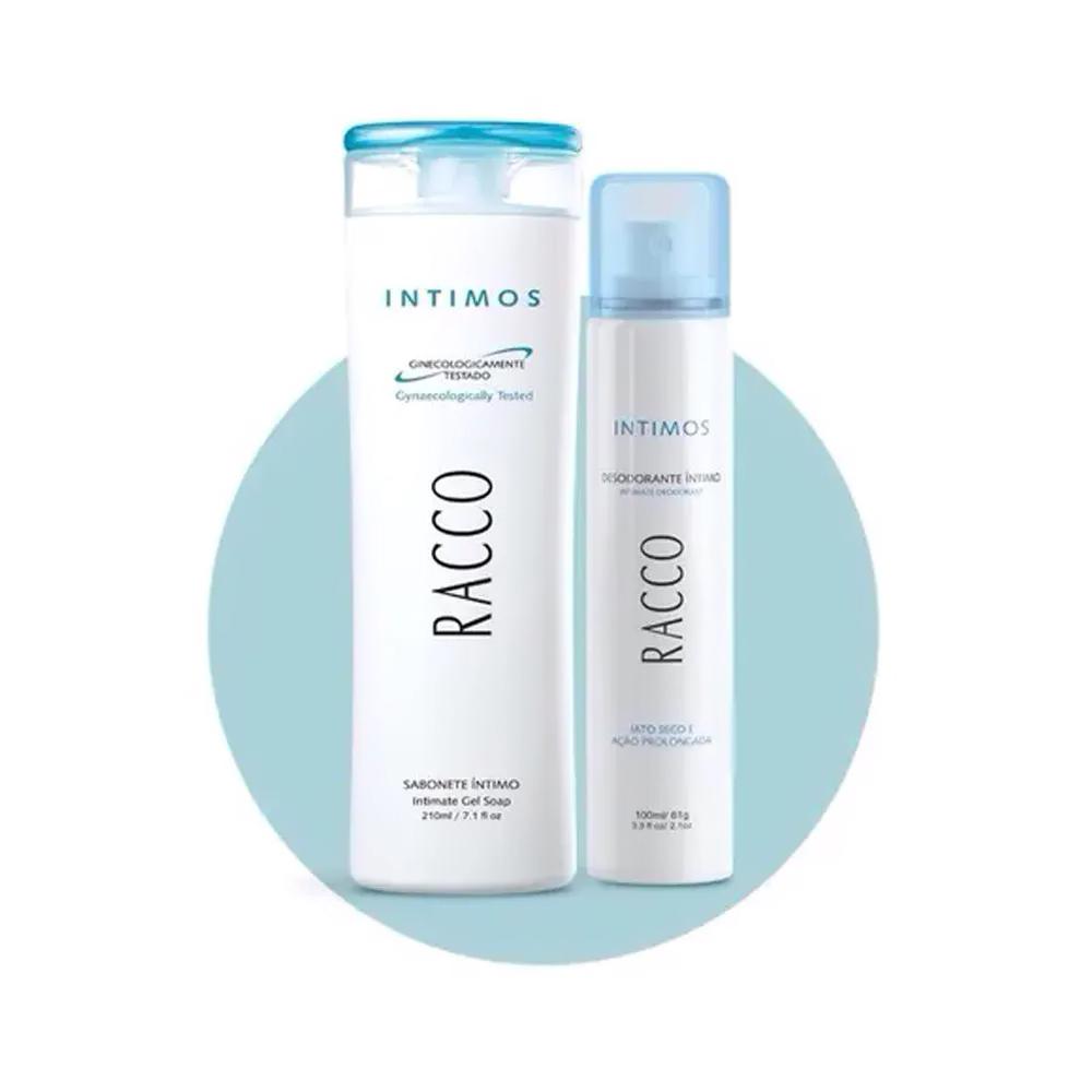 Combo Íntimos Racco: Sabonete Líquido + Desodorante Spray Íntimos  - Flor de Alecrim - Cosméticos