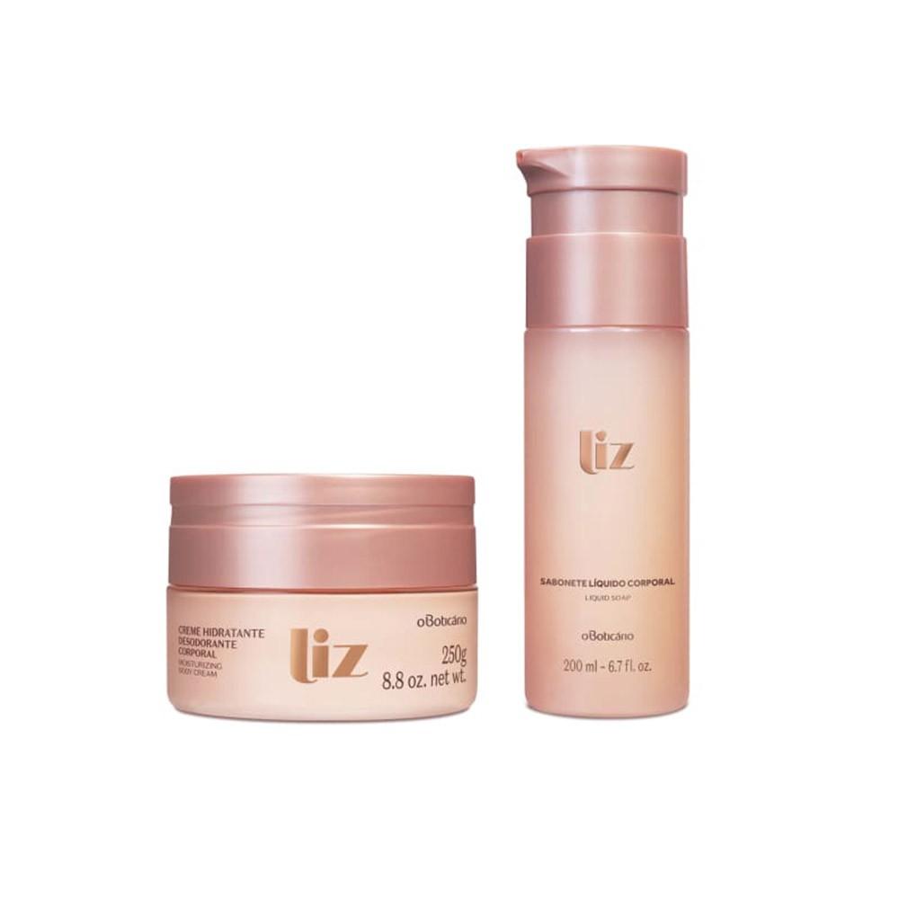 Combo Liz: Loção Desodorante Hidratante + Sabonete Líquido  - Flor de Alecrim - Cosméticos
