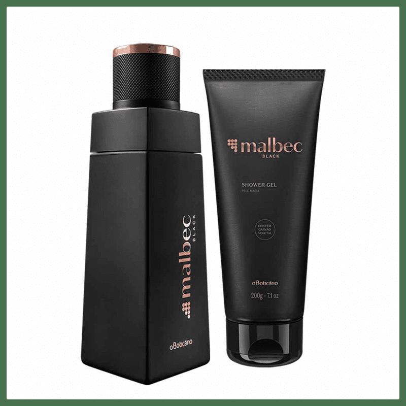 Combo Malbec Black: Desodorante Colônia + Shower Gel  - Flor de Alecrim - Cosméticos