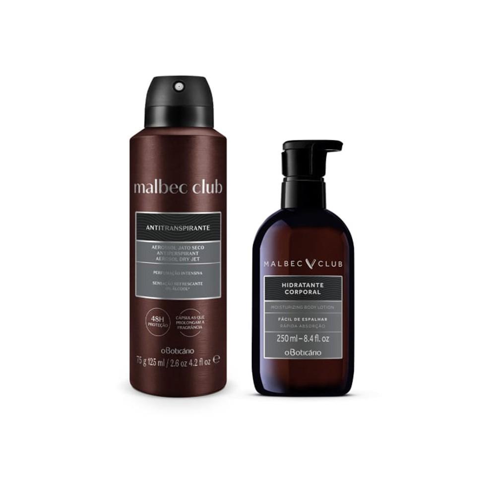 Combo Malbec Club: Desodorante Antitranspirante + Loção Desodorante Hidratante  - Flor de Alecrim - Cosméticos