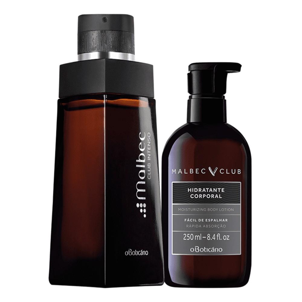 Combo Malbec Club Perfumado: Desodorante Colônia + Loção Hidratante Corporal  - Flor de Alecrim - Cosméticos