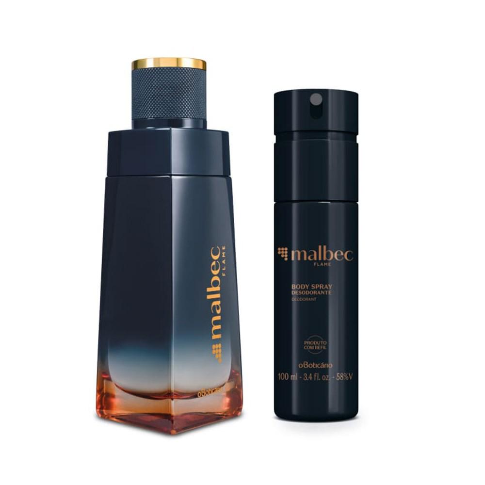 Combo Malbec Flame: Desodorante Colônia + Desodorante Body Spray  - Flor de Alecrim - Cosméticos
