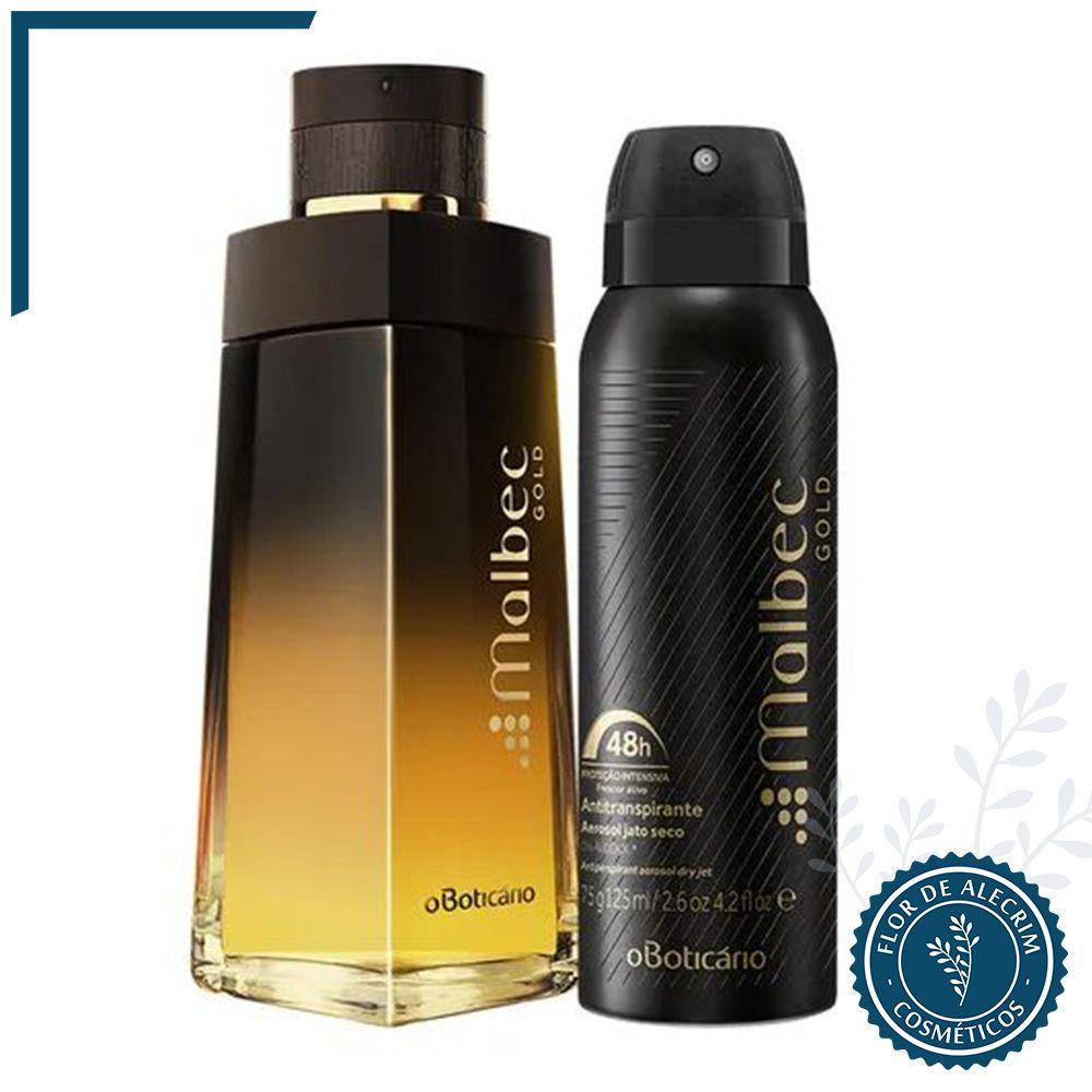 Combo Malbec Gold: Deo Colônia + Desodorante Aerosol | O Boticário  - Flor de Alecrim - Cosméticos