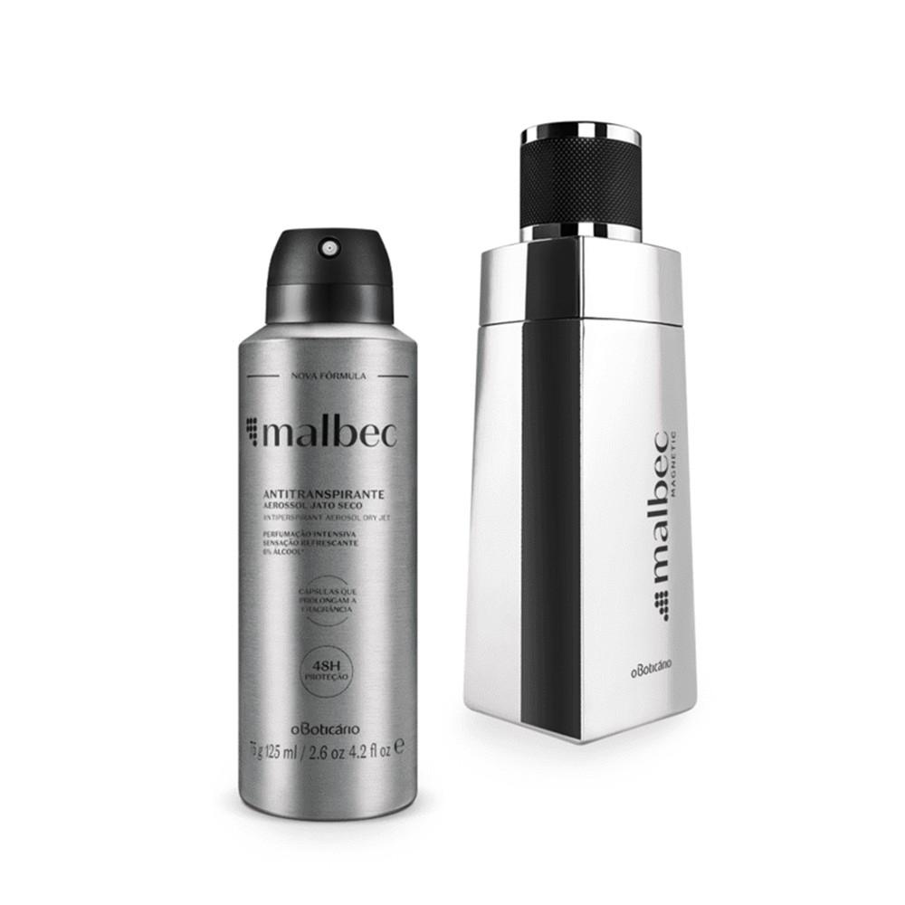 Combo Malbec Magnetic: Desodorante Colônia + Desodorante Antitranspirante Aerosol  - Flor de Alecrim - Cosméticos