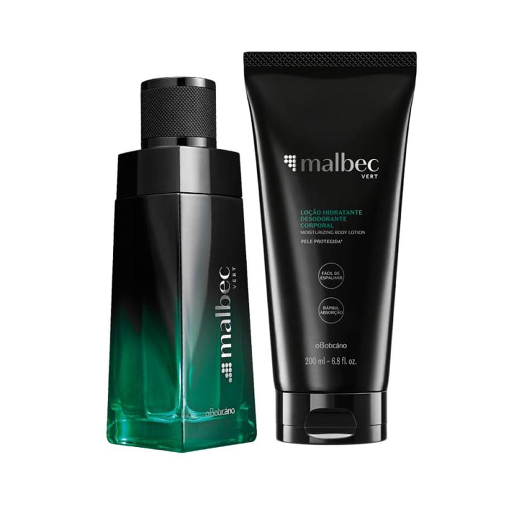 Combo Malbec Vert: Desodorante Colônia + Loção Hidratante Corporal  - Flor de Alecrim - Cosméticos