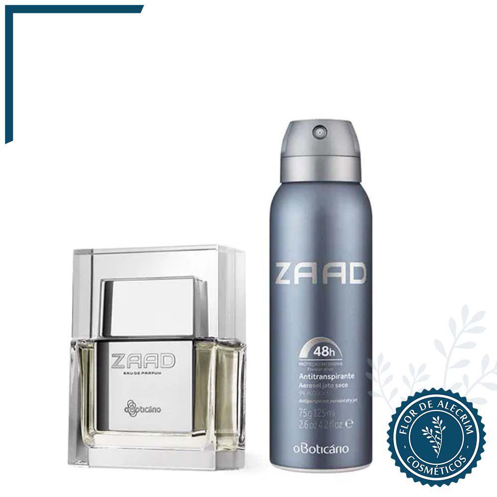 Combo Zaad: Eau de Parfum + Desodorante Aerossol   O Boticário  - Flor de Alecrim - Cosméticos