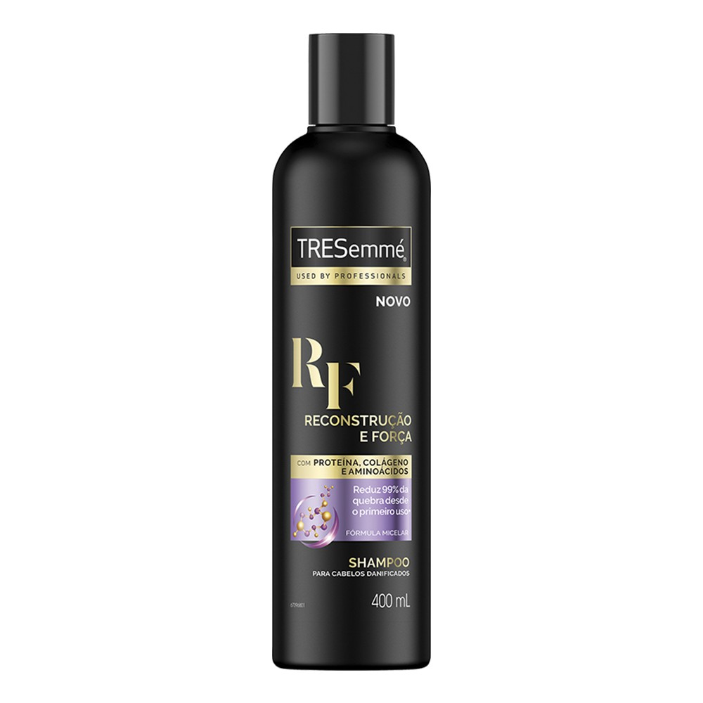 Shampoo Tresemmé Reconstrução e Força 400 Ml  - Flor de Alecrim - Cosméticos