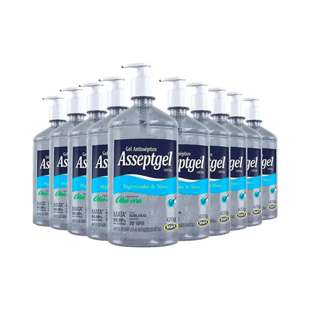 Combo 18 unidades: Álcool em Gel Higienizador de Mãos 420 g  - Flor de Alecrim - Cosméticos