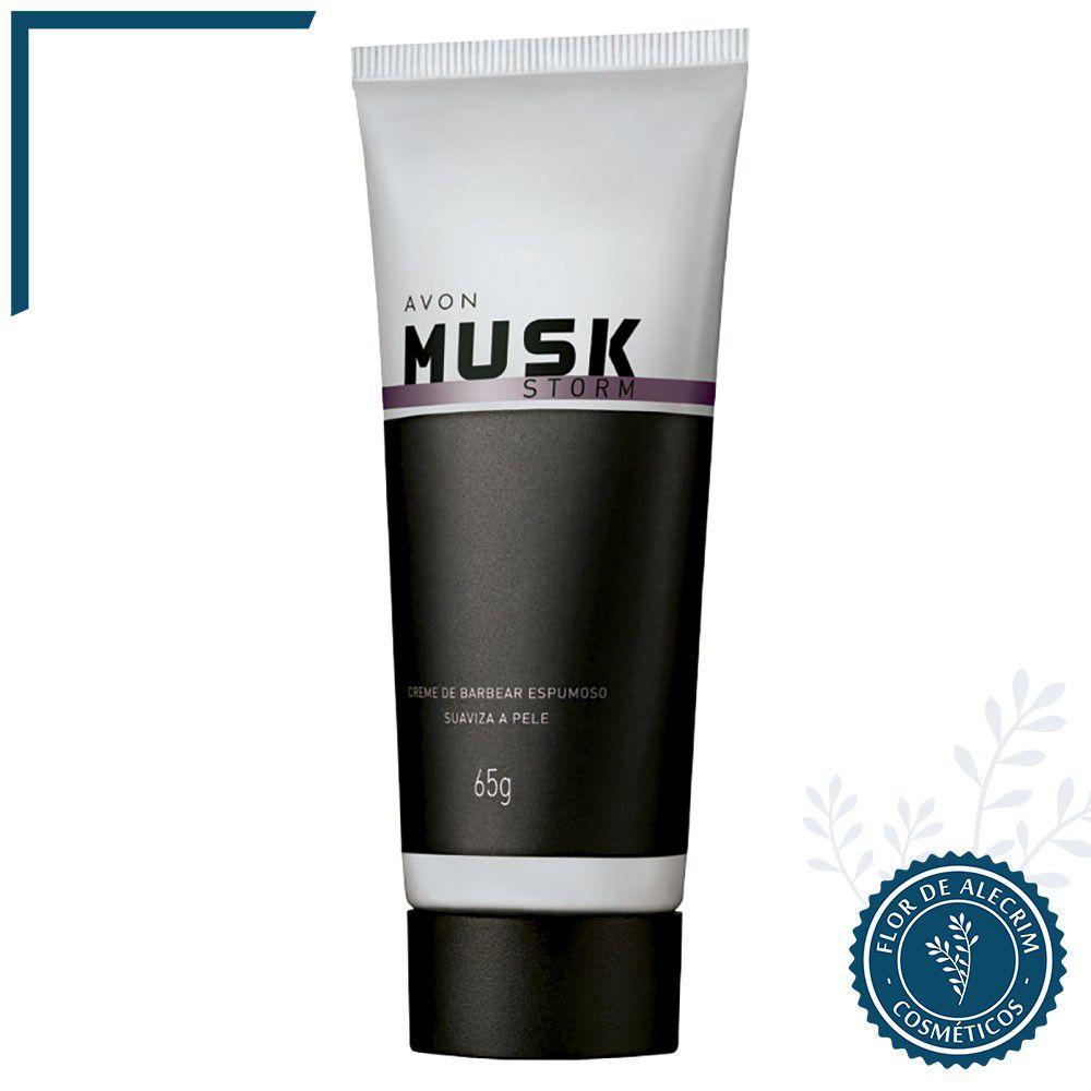 Creme de Barbear Storm | Musk - 65 g  - Flor de Alecrim - Cosméticos