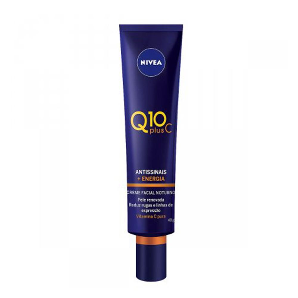 Creme Facial Antissinais Noturno Q10 Plus C - 40 g | Nivea  - Flor de Alecrim - Cosméticos
