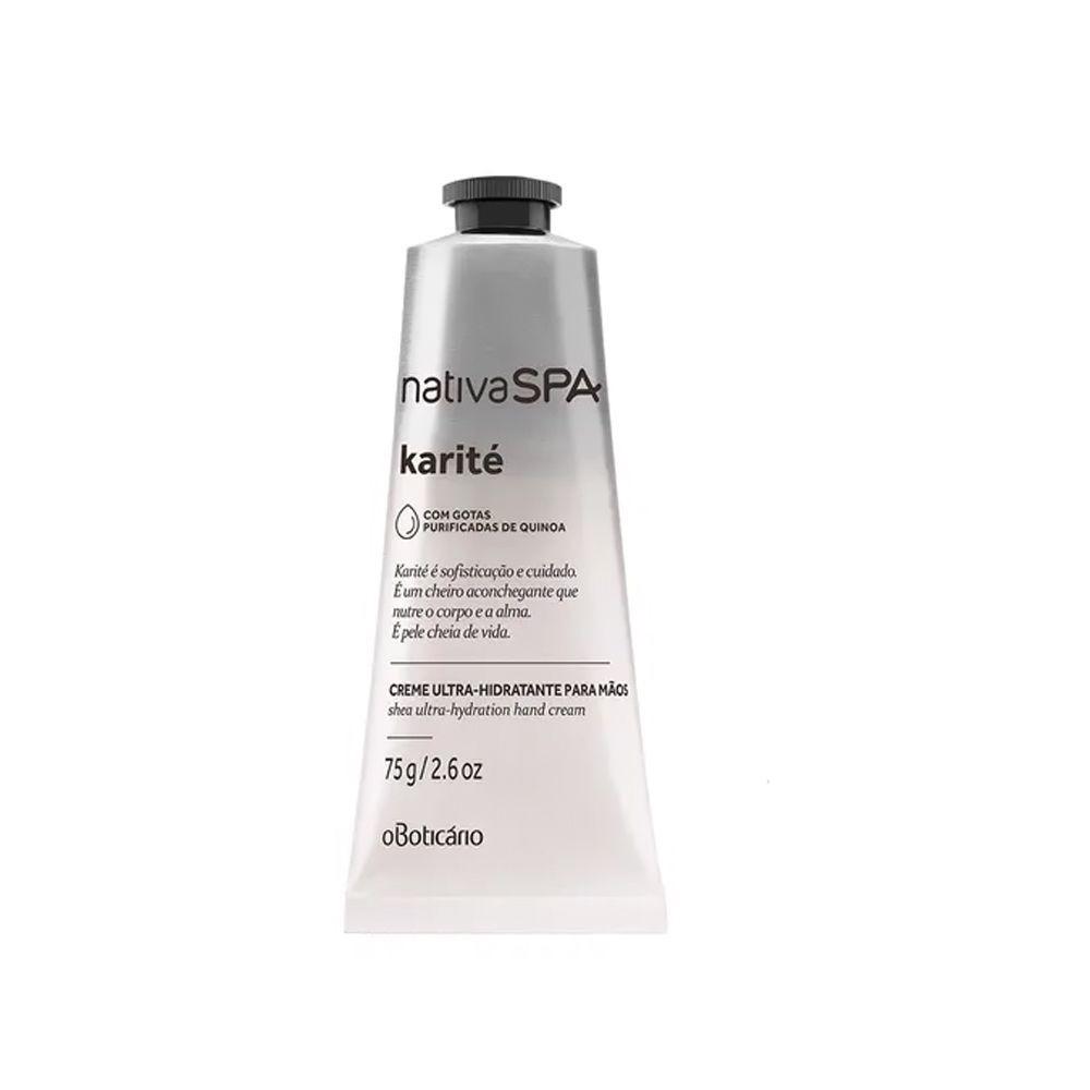 Creme Ultra Hidratante para Mãos Karité Nativa SPA - 75 g | O Boticário  - Flor de Alecrim - Cosméticos