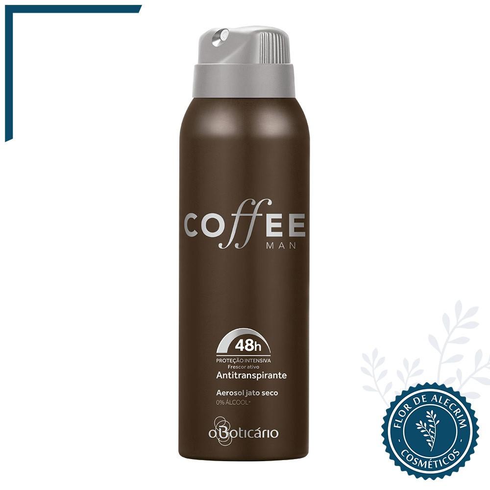 Desodorante Antitranspirante Aerossol | Coffee Man - 75 g  - Flor de Alecrim - Cosméticos