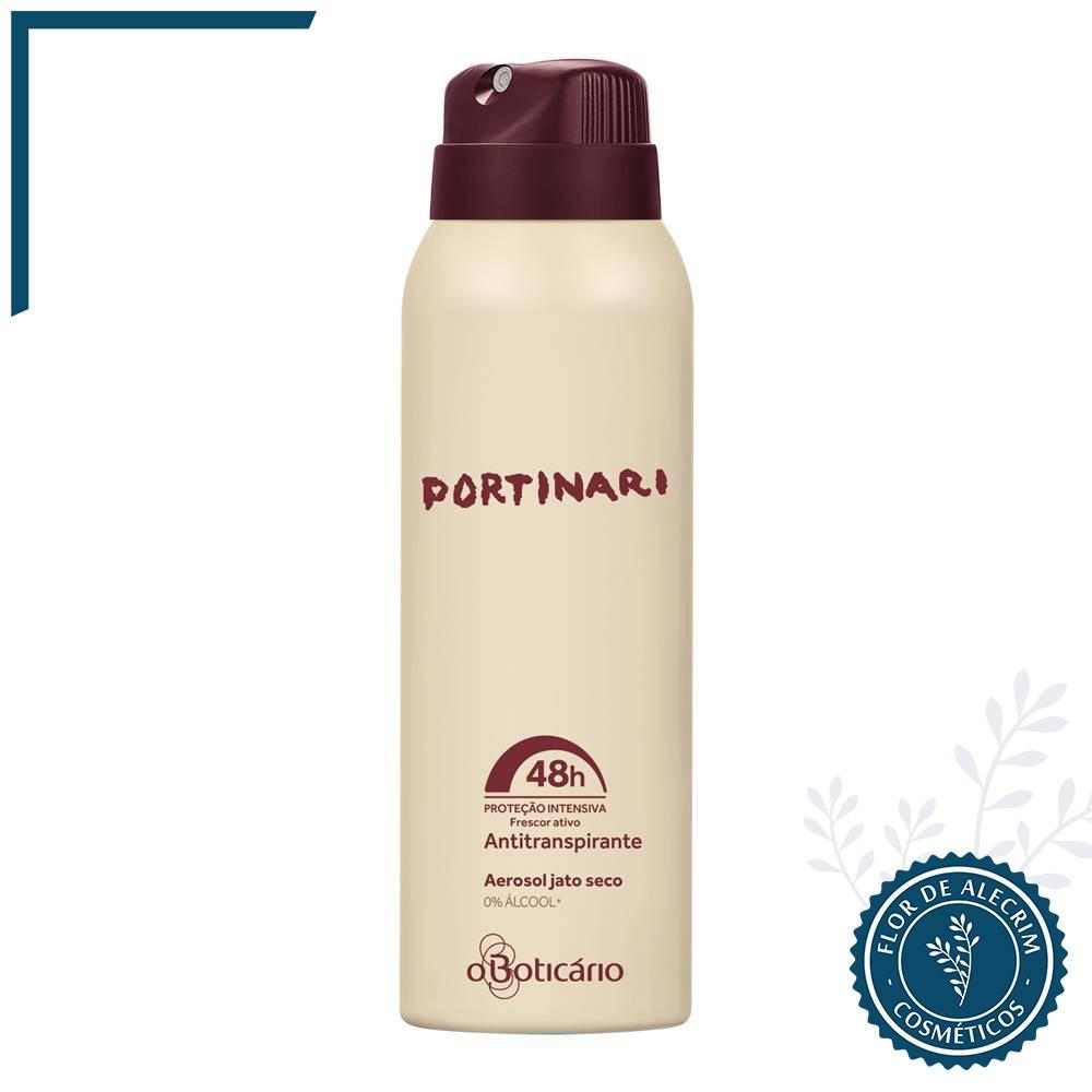 Desodorante Antitranspirante Aerossol | Portinari - 75 g  - Flor de Alecrim - Cosméticos