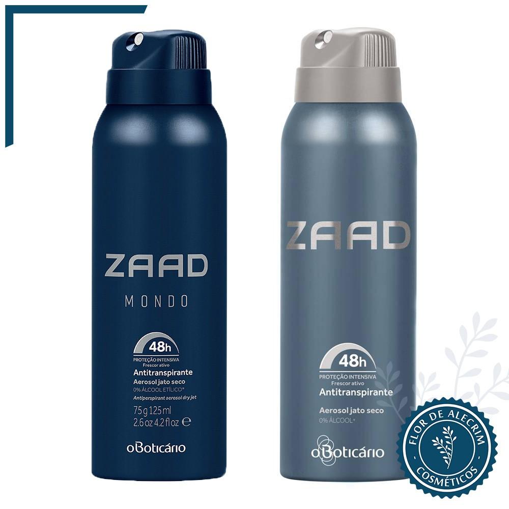Desodorante Antitranspirante Aerossol | Zaad - 75 g  - Flor de Alecrim - Cosméticos