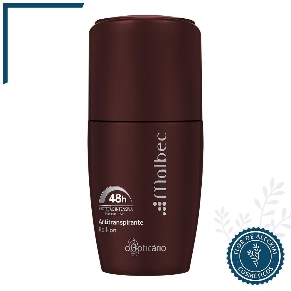 Desodorante Antitranspirante Roll-On Malbec - 55 Ml   O Boticário  - Flor de Alecrim - Cosméticos