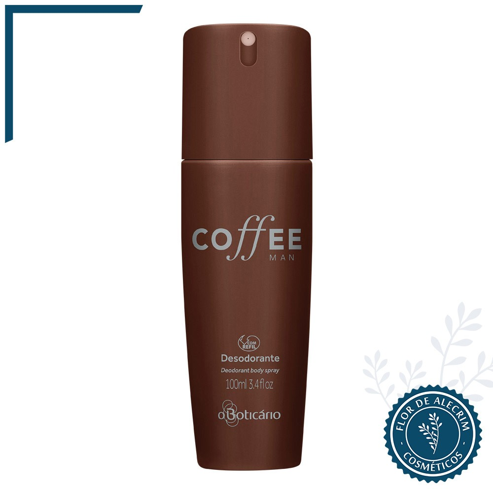 Desodorante Body Spray | Coffee Man - 100 ml  - Flor de Alecrim - Cosméticos