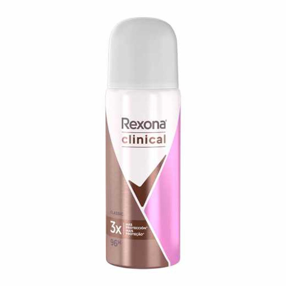 Desodorante Antitranspirante Aerosol Rexona Clinical Classic 55 Ml  - Flor de Alecrim - Cosméticos