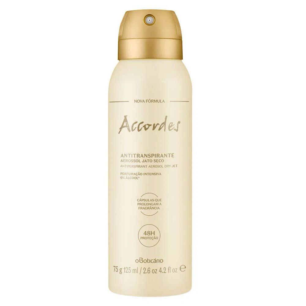 Desodorante Antitranspirante Aerossol Accordes - 75 g | O Boticário  - Flor de Alecrim - Cosméticos