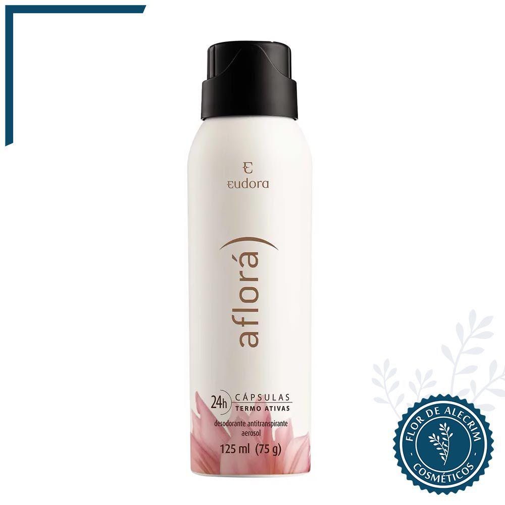 Desodorante Antitranspirante Aerossol Aflorá - 125 ml | Eudora  - Flor de Alecrim - Cosméticos