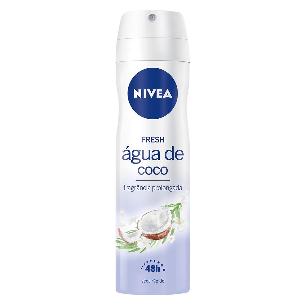 Desodorante Antitranspirante Aerossol Água de Coco - 150 Ml | Nivea  - Flor de Alecrim - Cosméticos