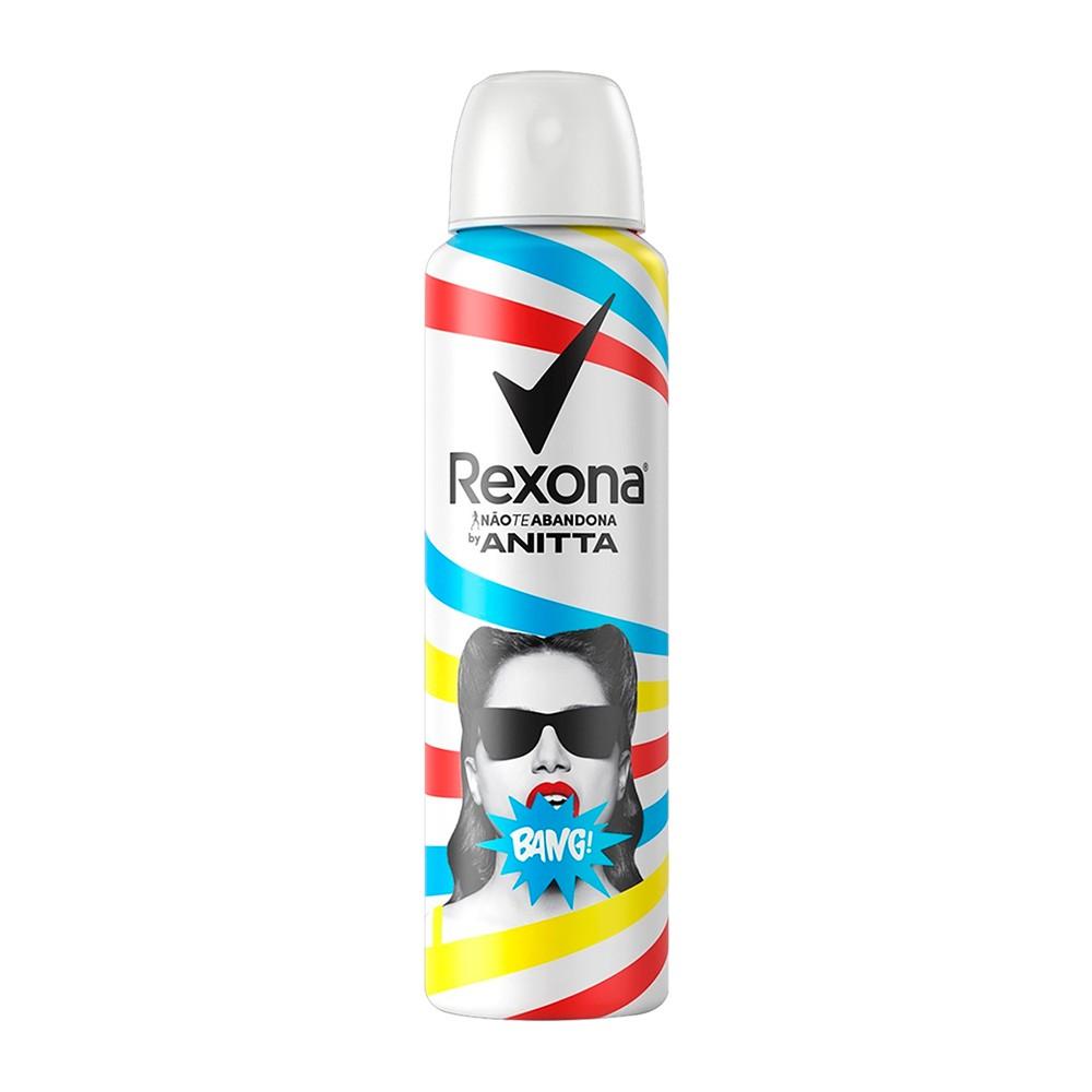 Desodorante Antitranspirante Aerosol Rexona Anitta Bag 150 Ml  - Flor de Alecrim - Cosméticos