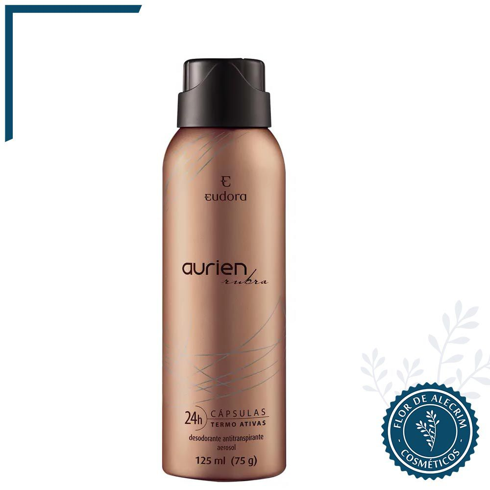 Desodorante Antitranspirante Aerossol Arien Rubra - 125 ml | Eudora  - Flor de Alecrim - Cosméticos