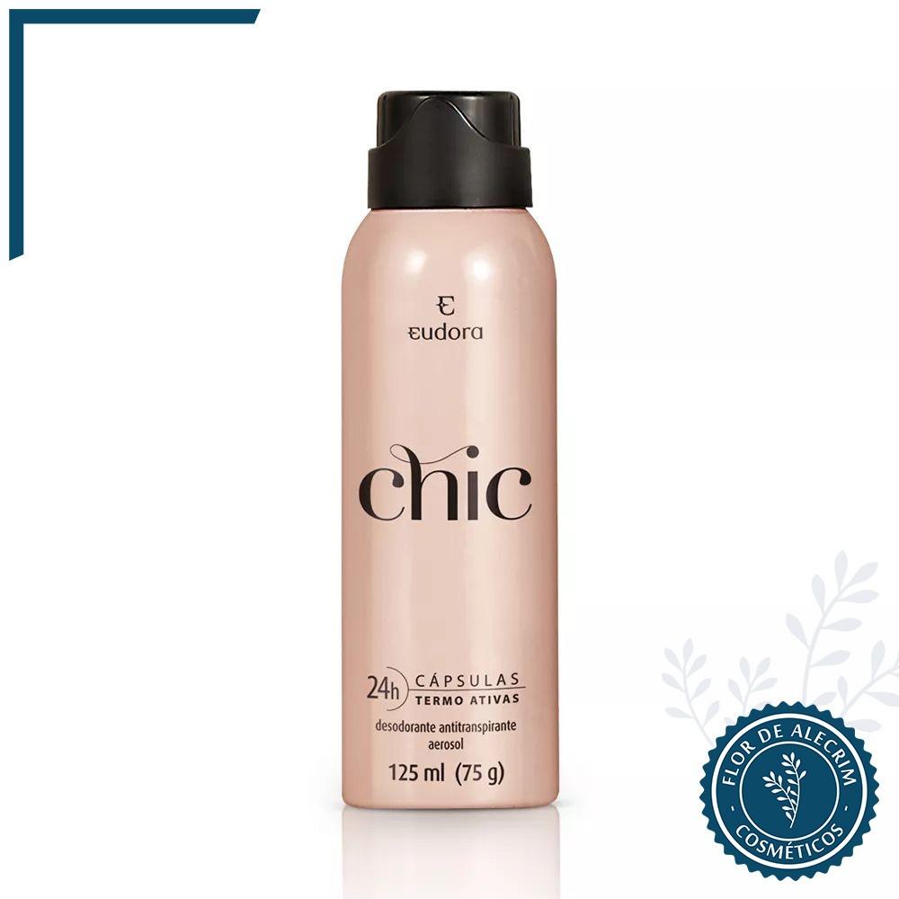 Chic Desodorante Antitranspirante Aerossol - 125 ml | Eudora  - Flor de Alecrim - Cosméticos