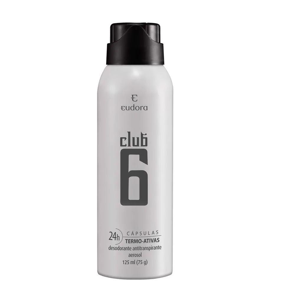 Desodorante Antitranspirante Aerosol Club 6 75 g  - Flor de Alecrim - Cosméticos