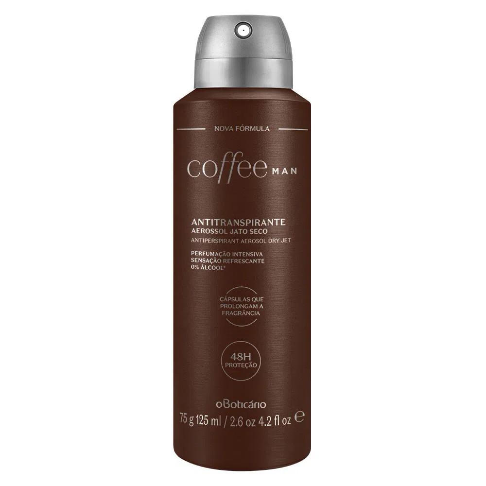 Desodorante Antitranspirante Aerosol Coffee Man 75 g  - Flor de Alecrim - Cosméticos