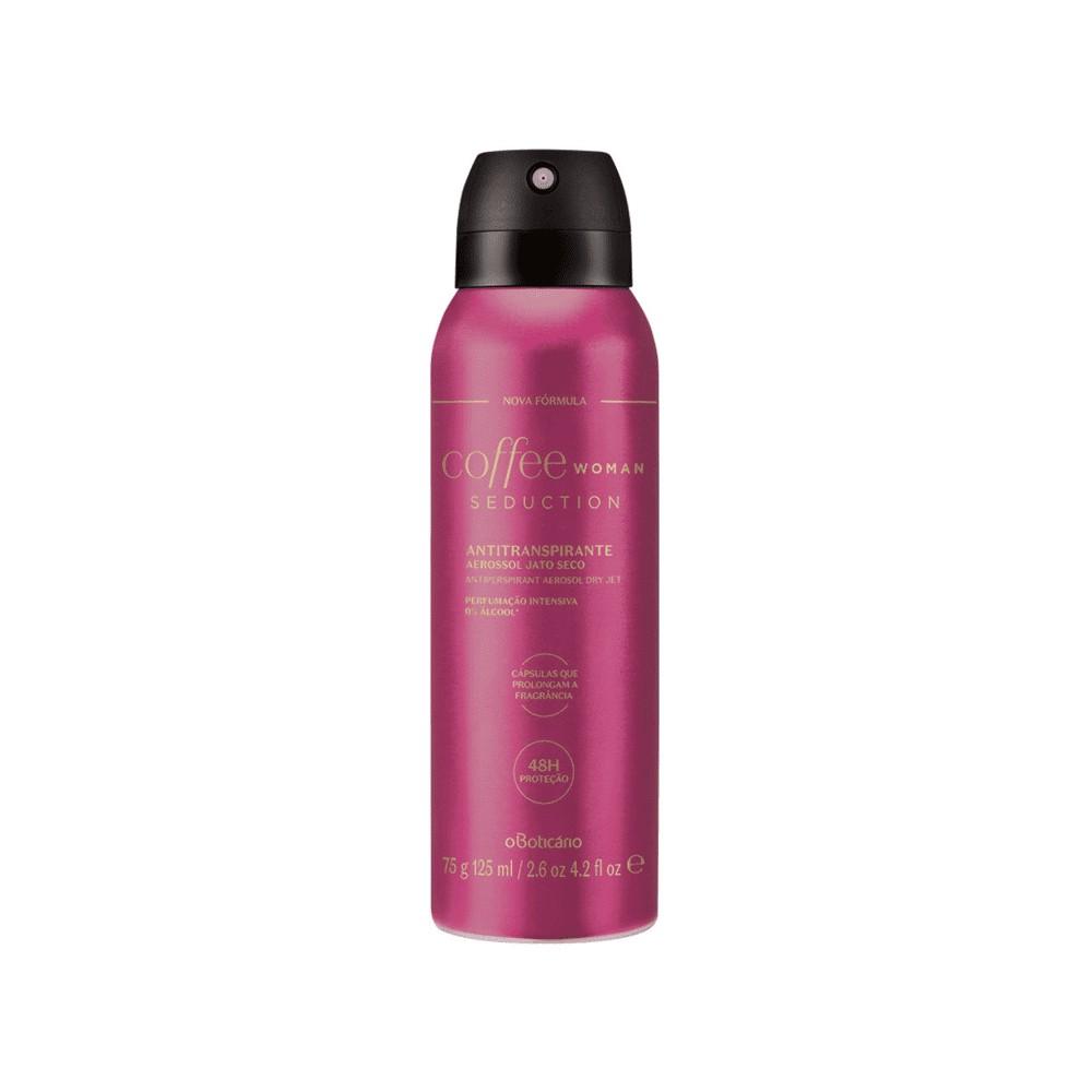 Desodorante Antitranspirante Aerosol Coffee Woman Seduction 75 g  - Flor de Alecrim - Cosméticos