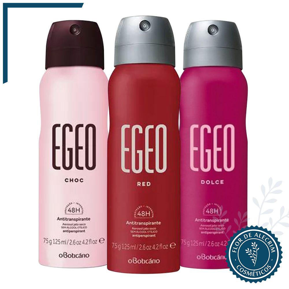 Desodorante Antitranspirante Aerossol | Egeo - 75 g  - Flor de Alecrim - Cosméticos