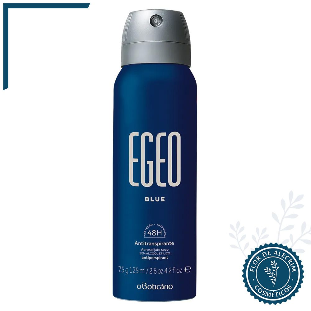 Desodorante Antitranspirante Aerossol | Egeo Blue - 75 g  - Flor de Alecrim - Cosméticos