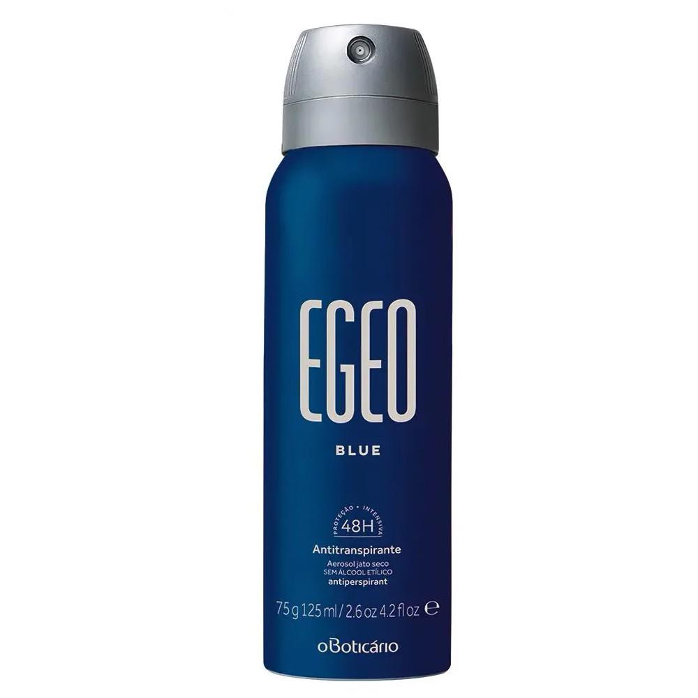 Desodorante Antitranspirante Aerossol Egeo Blue - 75 g | O Boticário  - Flor de Alecrim - Cosméticos