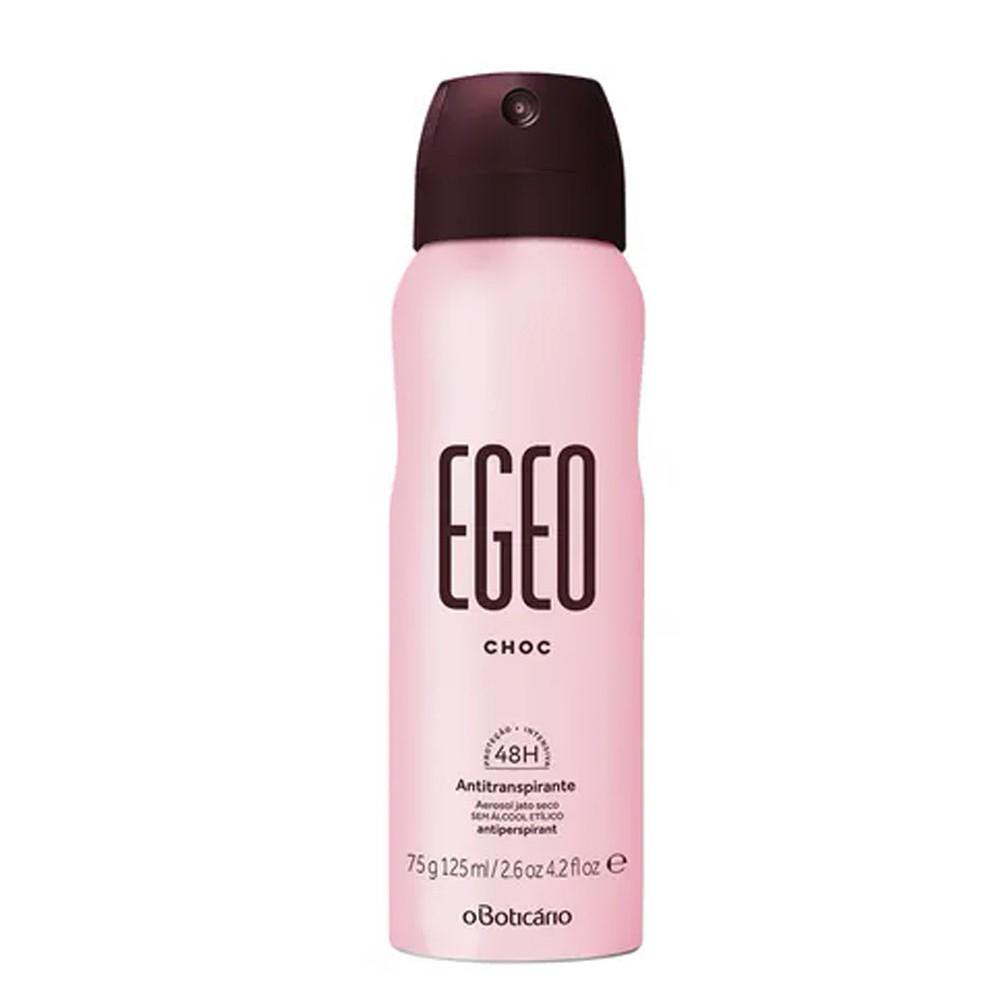 Desodorante Antitranspirante Aerosol Egeo Choc 125 Ml  - Flor de Alecrim - Cosméticos