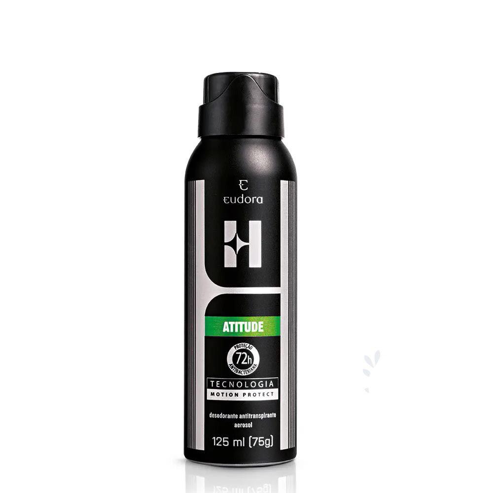 Desodorante Antitranspirante Aerosol Eudora H Atitude 125 Ml  - Flor de Alecrim - Cosméticos